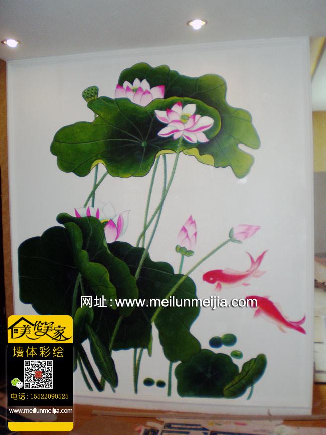 家庭手绘工程手绘幼儿园彩绘 天津墙体彩绘窗户墙绘室内风景油画手绘