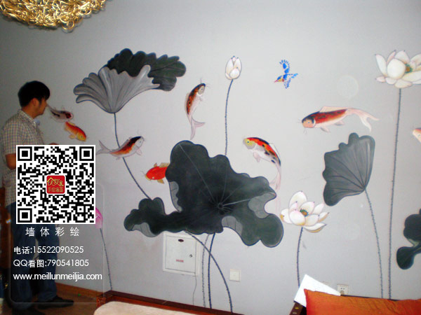 幼儿墙体手绘画