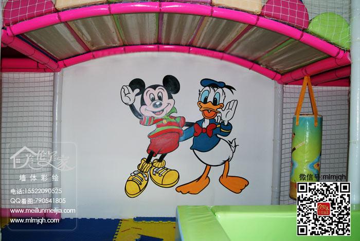天津游乐场墙体彩绘,儿童游乐园手绘墙,幼儿园彩绘,儿童乐园室内手绘