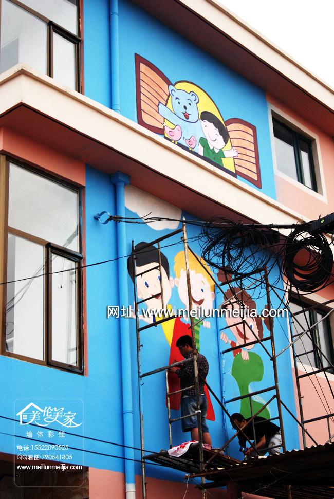 幼儿园门口墙体彩绘--幼儿园彩绘,幼儿园墙体彩绘,幼儿园走廊布置,幼儿园楼梯布置,幼儿园环境布置创意