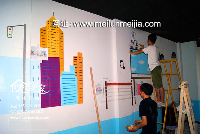 绘西青区麻辣烫墙体彩绘火锅手绘墙店铺彩绘室内商家大厅手绘墙面