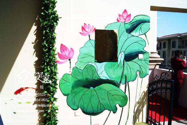 天津吊顶墙体彩绘/天津墙绘/天津家装墙体彩绘,隐形门墙绘,电视背景墙手绘墙,玄观风景装饰画,创意手绘墙体_