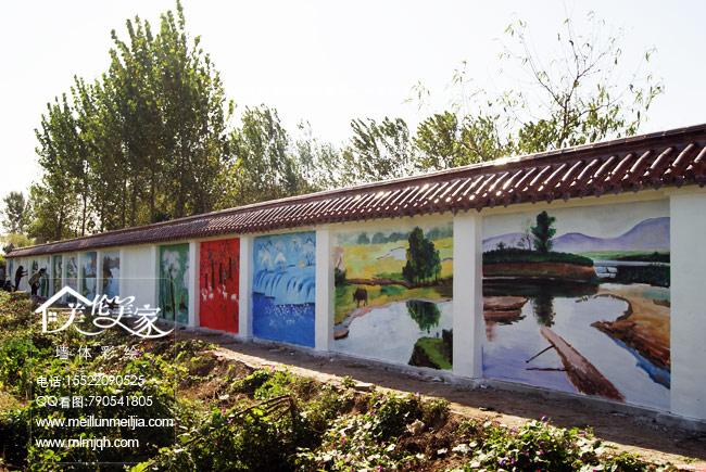 天津新农村外墙绘画工程墙体彩绘风景油画墙绘壁画文化墙彩绘宣传墙壁画墙漆手绘工程喷绘涂鸦创意墙体彩绘墙