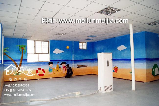 天津游乐场墙体彩绘儿童乐园墙绘固安新中街手绘墙,淘气堡熊出没儿童