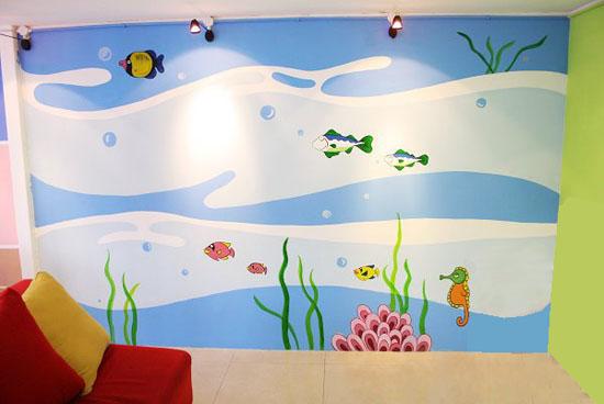 创意墙绘 儿童房手绘墙 卡通墙绘 幼儿园墙面彩绘