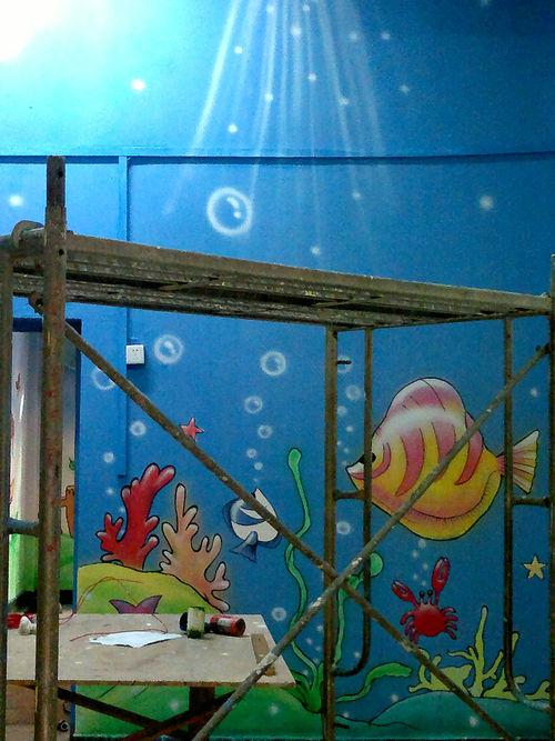 儿童医院壁画 店铺手绘墙 母婴室壁画 儿童房手绘墙 卡通墙绘 幼儿园