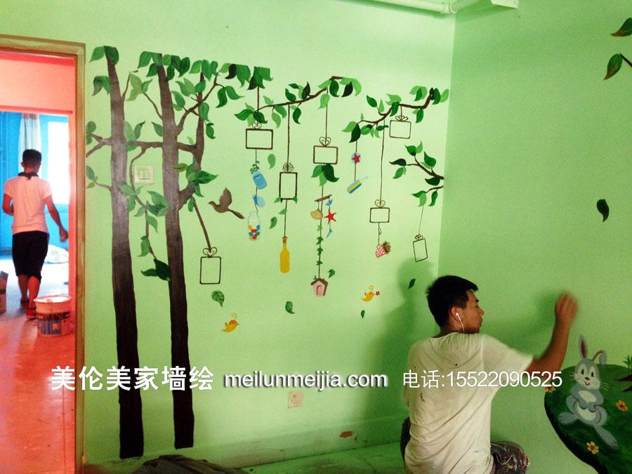 天津墙体彩绘,幼儿园墙体彩绘/火车墙绘/可爱卡通动物手绘墙