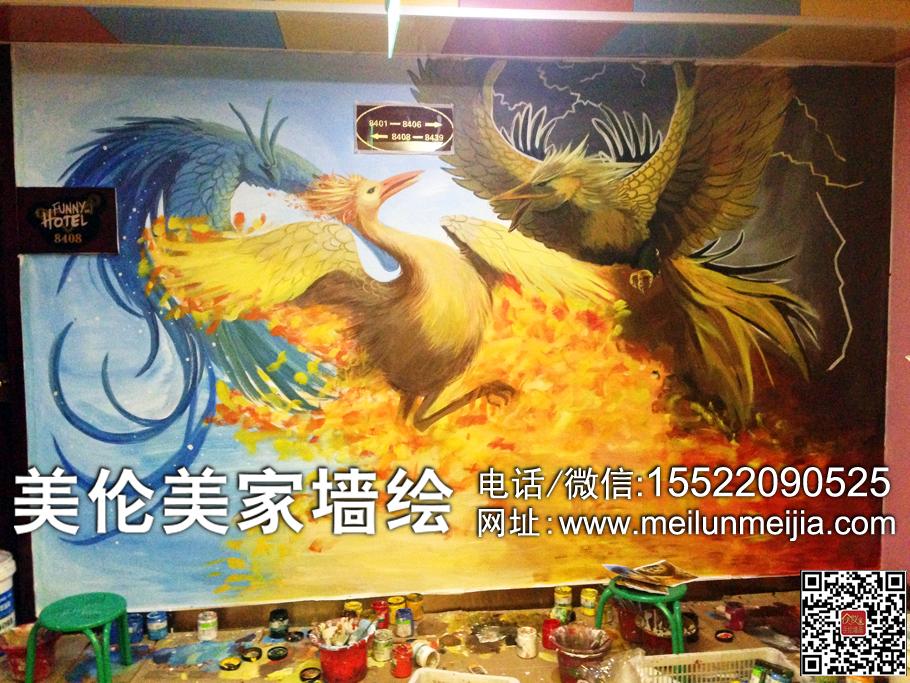 天津墙绘,天津墙体彩绘,天津手绘墙画