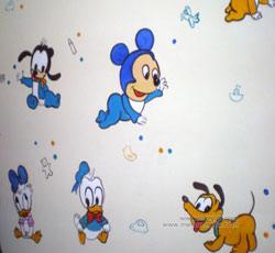 老鼠墙绘狗墙绘唐老鸭手绘墙画儿童房